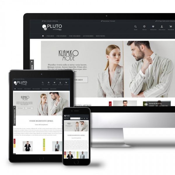 Theme Pluto - Fashion Template