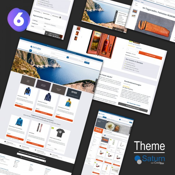 Theme Saturn - Responsive Template SW6