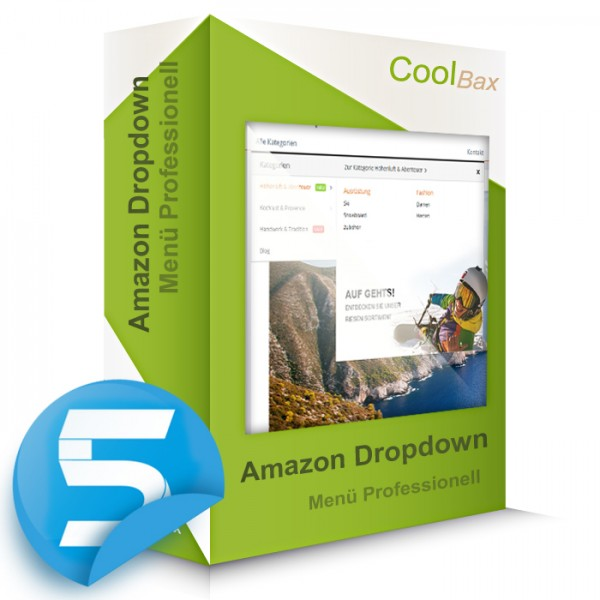 Amazon Dropdown Menü Professionell